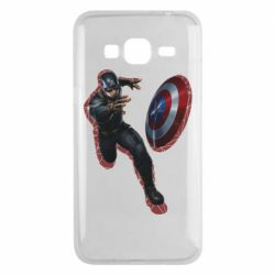 Чехол для Samsung J3 2016 Captain america with red shadow