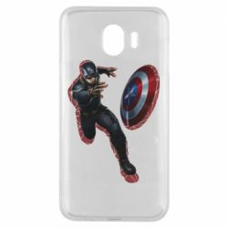 Чехол для Samsung J4 Captain america with red shadow