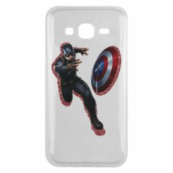 Чехол для Samsung J5 2015 Captain america with red shadow