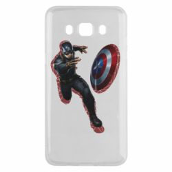 Чехол для Samsung J5 2016 Captain america with red shadow