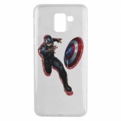 Чехол для Samsung J6 Captain america with red shadow