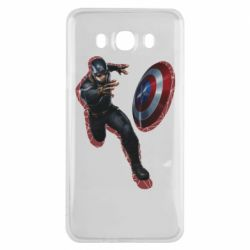 Чехол для Samsung J7 2016 Captain america with red shadow