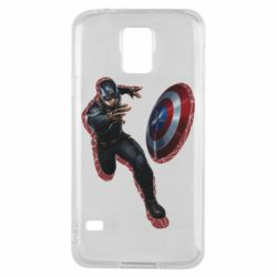 Чехол для Samsung S5 Captain america with red shadow