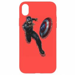 Чехол для iPhone XR Captain america with red shadow
