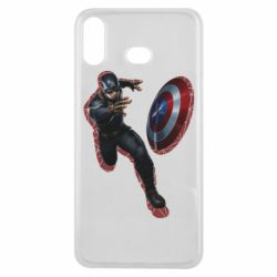 Чехол для Samsung A6s Captain america with red shadow