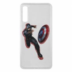 Чехол для Samsung A7 2018 Captain america with red shadow