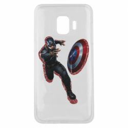 Чехол для Samsung J2 Core Captain america with red shadow