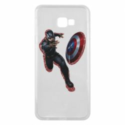 Чехол для Samsung J4 Plus 2018 Captain america with red shadow