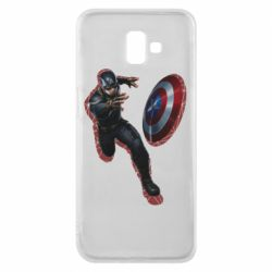 Чехол для Samsung J6 Plus 2018 Captain america with red shadow