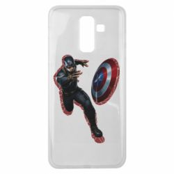 Чехол для Samsung J8 2018 Captain america with red shadow