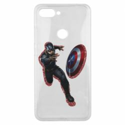 Чехол для Xiaomi Mi8 Lite Captain america with red shadow
