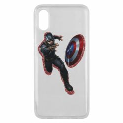 Чехол для Xiaomi Mi8 Pro Captain america with red shadow
