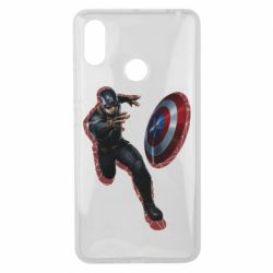 Чехол для Xiaomi Mi Max 3 Captain america with red shadow