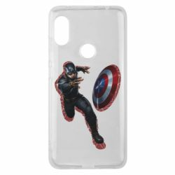 Чехол для Xiaomi Redmi Note 6 Pro Captain america with red shadow