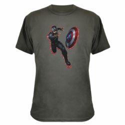 Камуфляжная футболка Captain america with red shadow