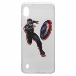 Чехол для Samsung A10 Captain america with red shadow