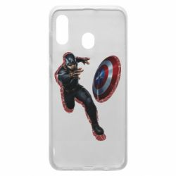 Чехол для Samsung A20 Captain america with red shadow