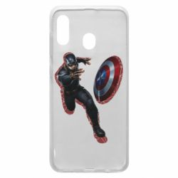 Чехол для Samsung A30 Captain america with red shadow