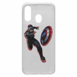 Чехол для Samsung A40 Captain america with red shadow