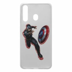 Чехол для Samsung A60 Captain america with red shadow