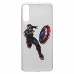 Чехол для Samsung A70 Captain america with red shadow