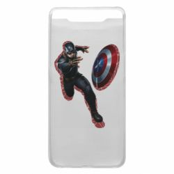 Чехол для Samsung A80 Captain america with red shadow