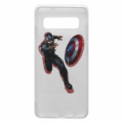 Чехол для Samsung S10 Captain america with red shadow