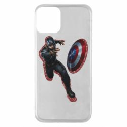 Чехол для iPhone 11 Captain america with red shadow