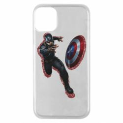 Чехол для iPhone 11 Pro Captain america with red shadow