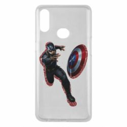Чехол для Samsung A10s Captain america with red shadow