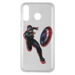 Чехол для Samsung M30 Captain america with red shadow
