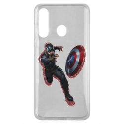 Чехол для Samsung M40 Captain america with red shadow