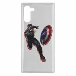 Чехол для Samsung Note 10 Captain america with red shadow