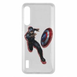 Чохол для Xiaomi Mi A3 Captain america with red shadow