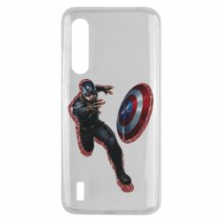 Чехол для Xiaomi Mi9 Lite Captain america with red shadow