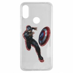 Чехол для Xiaomi Redmi Note 7 Captain america with red shadow