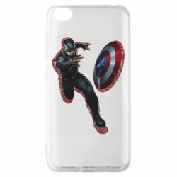 Чехол для Xiaomi Redmi Go Captain america with red shadow