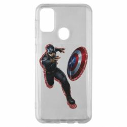 Чехол для Samsung M30s Captain america with red shadow