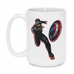 Кружка 420ml Captain america with red shadow