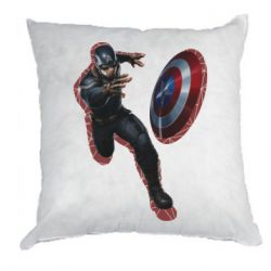 Подушка Captain america with red shadow