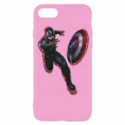 Чехол для iPhone 7 Captain america with red shadow
