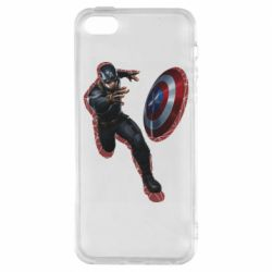 Чехол для iPhone5/5S/SE Captain america with red shadow