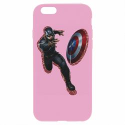 Чехол для iPhone 6/6S Captain america with red shadow