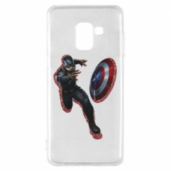 Чехол для Samsung A8 2018 Captain america with red shadow