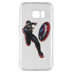 Чехол для Samsung S7 Captain america with red shadow