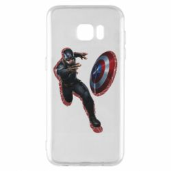 Чехол для Samsung S7 EDGE Captain america with red shadow