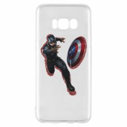 Чехол для Samsung S8 Captain america with red shadow
