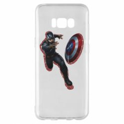 Чехол для Samsung S8+ Captain america with red shadow