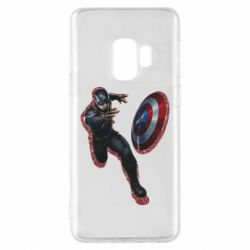Чехол для Samsung S9 Captain america with red shadow