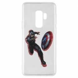 Чехол для Samsung S9+ Captain america with red shadow